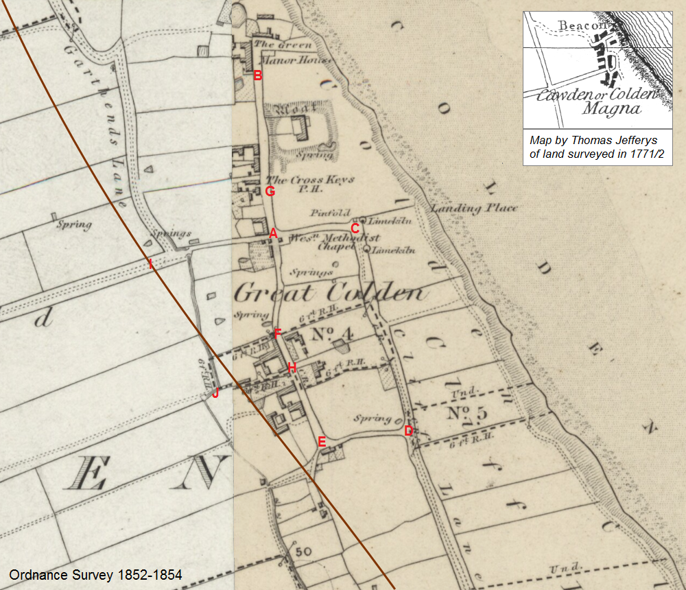 Great Colden OS 1852 map