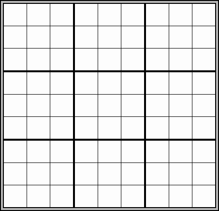 sudoku blank grid for printing out