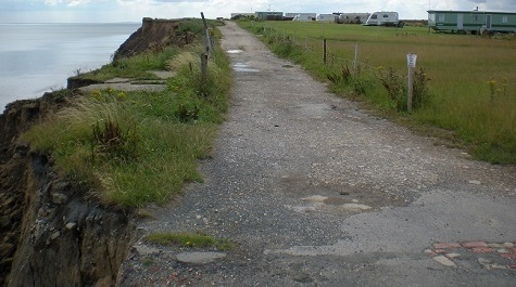 Skipsea - Cliff Road [5 August 2011]